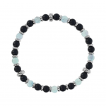 Men bracelet, mermaid, silver 925 with black onyx and fluorite, Αlbert Μ. br2351 BRACELETS Κοσμηματα - chrilia.gr