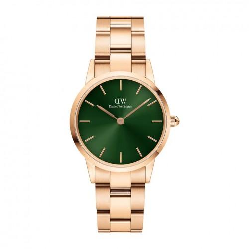 Daniel Wellington Iconic Link Emerald Pink/Green 28mm DW00100421, ac1267