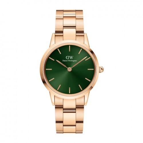 Daniel Wellington Iconic Link Emerald Pink/Green 32mm DW00100420, ac1268