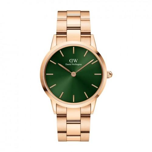 Daniel Wellington Iconic Link Emerald Pink/Green 36mm DW00100419, ac1269
