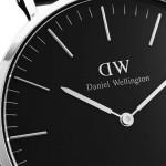 Daniel Wellington Classic Sheffield Silver/Black 40mm DW00100133, ac0502 LUXURY GIFTS Κοσμηματα - chrilia.gr