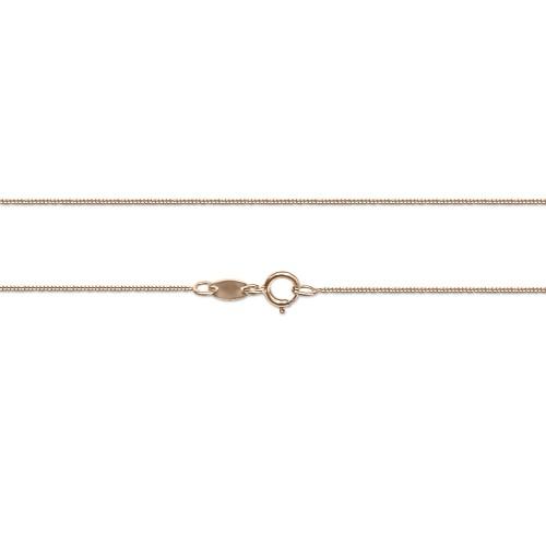 Gourmet chain Κ14 pink gold 50cm, al0241