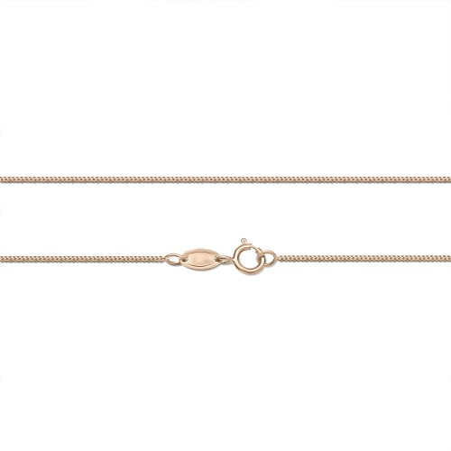 Gourmet chain Κ14 pink gold 50cm, al0261