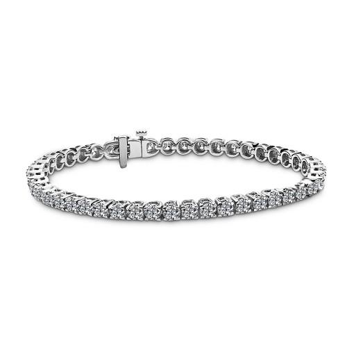 Tennis bracelet 18K white gold with diamonds 4.80ct, VVS, F from IGL br1721 BRACELETS Κοσμηματα - chrilia.gr