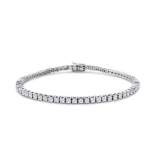 Tennis bracelet 18K white gold with diamonds 3.32ct, VS1, F, br1934 BRACELETS Κοσμηματα - chrilia.gr