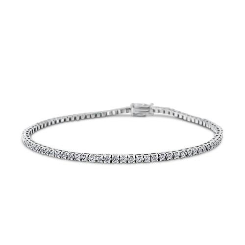 Tennis bracelet 18K white gold with diamonds 1.23ct, VS1, F, br1941 BRACELETS Κοσμηματα - chrilia.gr