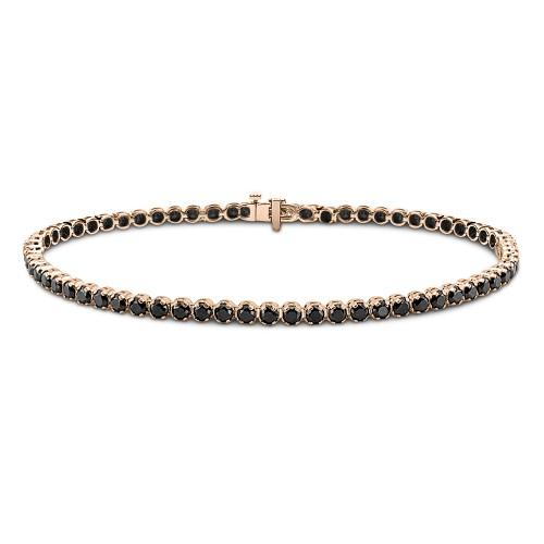 Tennis bracelet,14K pink gold with spinel, br2020 BRACELETS Κοσμηματα - chrilia.gr
