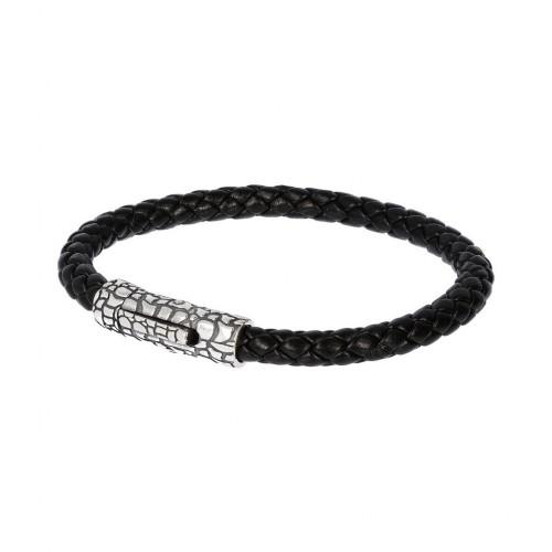 Men bracelet, snake rope, silver 925, Αlbert Μ. br2321 BRACELETS Κοσμηματα - chrilia.gr