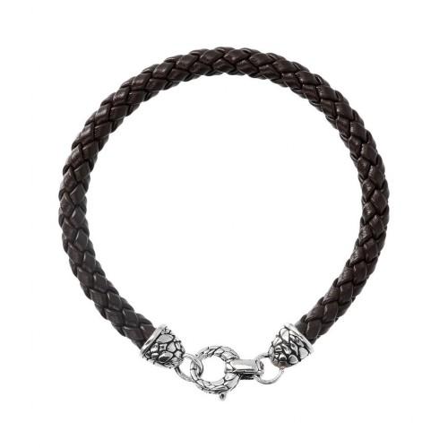Men bracelet, snake, silver 925, Αlbert Μ. br2322 BRACELETS Κοσμηματα - chrilia.gr