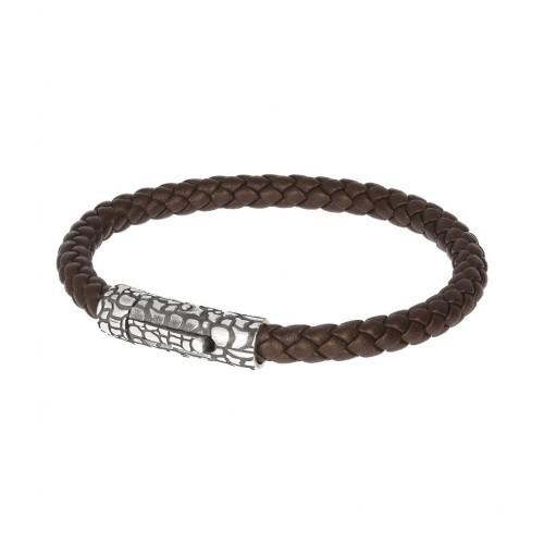 Men bracelet, snake rope, silver 925, Αlbert Μ. br2324 BRACELETS Κοσμηματα - chrilia.gr