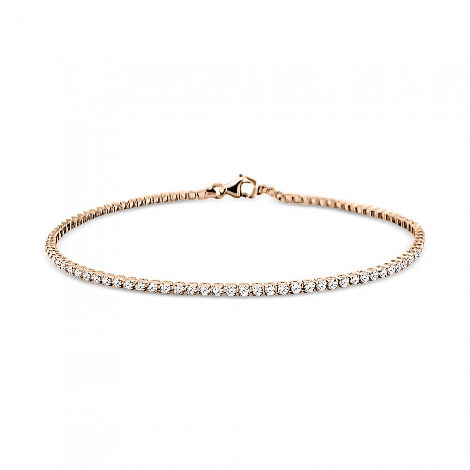 Tennis bracelet,14K pink gold with zircon, br2333 BRACELETS Κοσμηματα - chrilia.gr