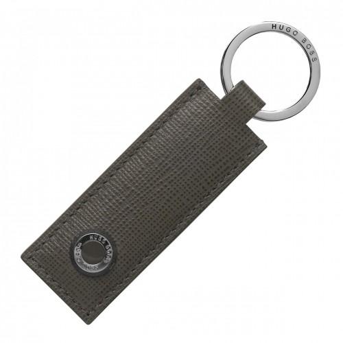 Hugo Boss key ring, Tradition Grey HAK804H, kl0068 LUXURY GIFTS Κοσμηματα - chrilia.gr