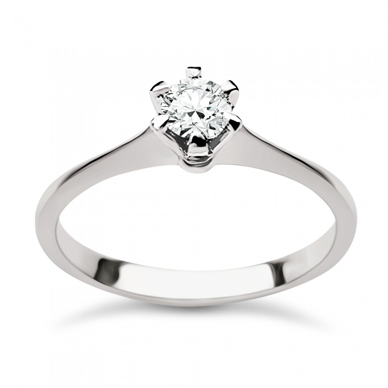 Solitaire ring 18K white gold with diamond 0.21ct, VS1, G from IGL da3865 ENGAGEMENT RINGS Κοσμηματα - chrilia.gr