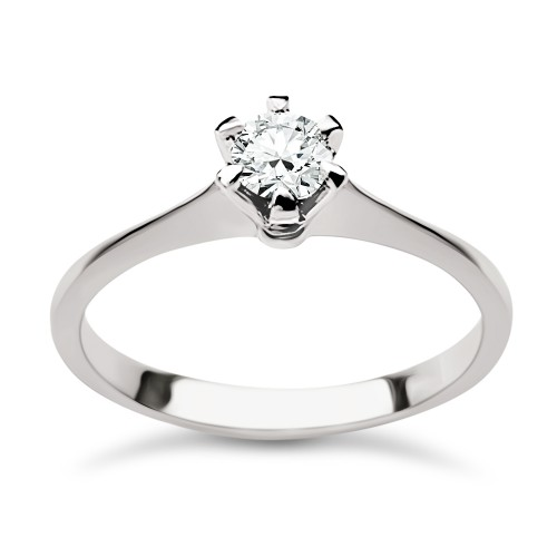 Solitaire ring 18K white gold with diamond 0.23ct, VVS1, F from IGL da3744 ENGAGEMENT RINGS Κοσμηματα - chrilia.gr