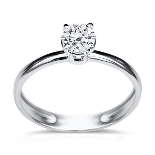 Solitaire ring 18K white gold with diamond 0.40ct, SI1, E from HRD da3499 ENGAGEMENT RINGS Κοσμηματα - chrilia.gr
