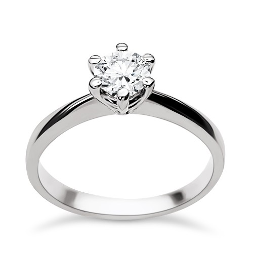 Solitaire ring 18K white gold with diamond 0.45ct, SI1, E from HRD da3500 ENGAGEMENT RINGS Κοσμηματα - chrilia.gr