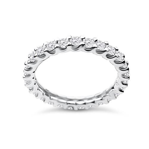 Full stone ring 18K white gold with diamonds 1.41ct, VVS1, F from IGL da3700 ENGAGEMENT RINGS Κοσμηματα - chrilia.gr