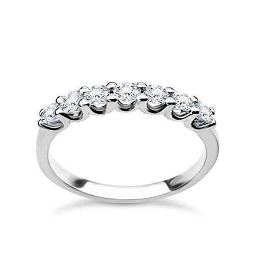 Half stone ring 18K white gold with diamonds 0.50ct, VS1, F from IGL da3707 ENGAGEMENT RINGS Κοσμηματα - chrilia.gr