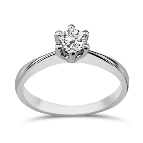 Solitaire ring 18K white gold with diamond 0.35ct, VVS2, H from IGL da3514 ENGAGEMENT RINGS Κοσμηματα - chrilia.gr