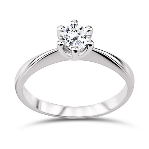 Solitaire ring 18K white gold with diamond 0.30ct, VVS1, F from IGL da3517 ENGAGEMENT RINGS Κοσμηματα - chrilia.gr