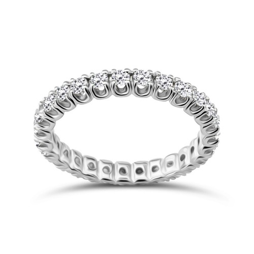 Full stone ring 18K white gold with diamonds 0.87ct, VVS1, F from IGL da3694 ENGAGEMENT RINGS Κοσμηματα - chrilia.gr