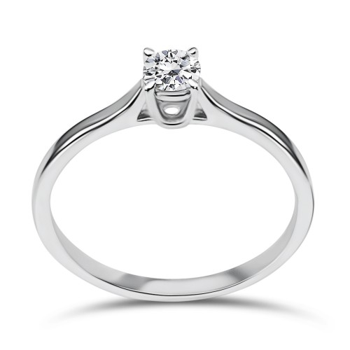 Solitaire ring 18K white gold with diamond 0.25ct, VS2, H da3519 ENGAGEMENT RINGS Κοσμηματα - chrilia.gr