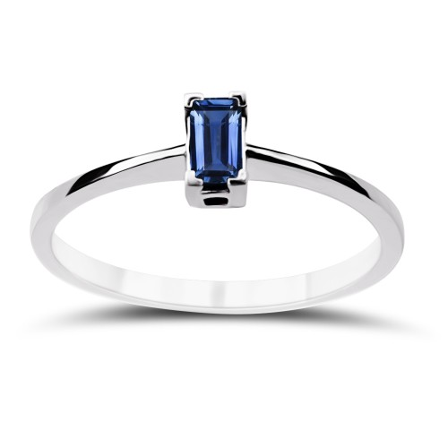 Solitaire ring 18K white gold with sapphire 0.22ct, da3690 ENGAGEMENT RINGS Κοσμηματα - chrilia.gr