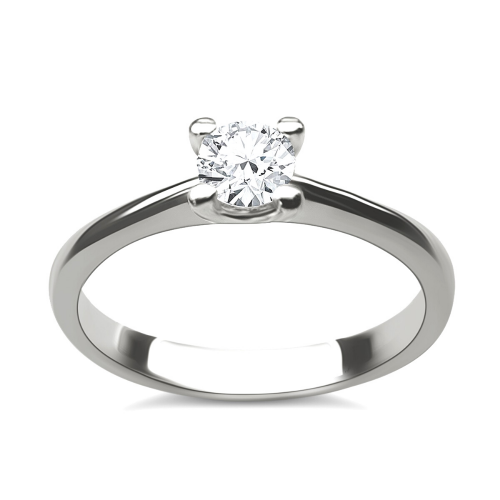 Solitaire ring 18K white gold with diamond 0.30ct, VVS2, H from HRD da3501 ENGAGEMENT RINGS Κοσμηματα - chrilia.gr