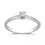 Solitaire ring 18K white gold with diamond 0.08ct, VS1, G from IGL da3795 ENGAGEMENT RINGS Κοσμηματα - chrilia.gr