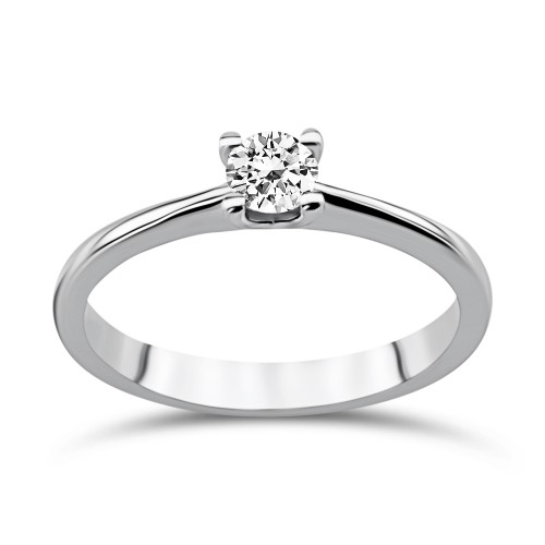 Solitaire ring 18K white gold with diamond 0.20ct, SI1, H from IGL da3518 ENGAGEMENT RINGS Κοσμηματα - chrilia.gr