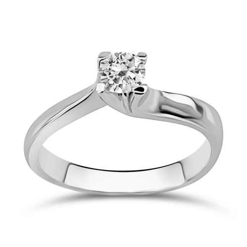 Solitaire ring 18K white gold with diamond 0.30ct, VS1, H from IGL da3790 ENGAGEMENT RINGS Κοσμηματα - chrilia.gr
