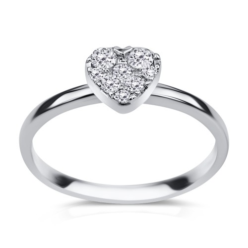Multistone ring 18K white gold  0.20ct, VS1, G from IGL da3533 ENGAGEMENT RINGS Κοσμηματα - chrilia.gr