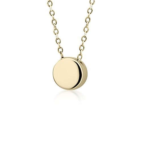 Round necklace, Κ9 gold, ko4492