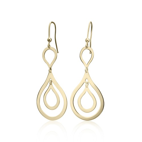 Dangle earrings K14 gold, sk1823