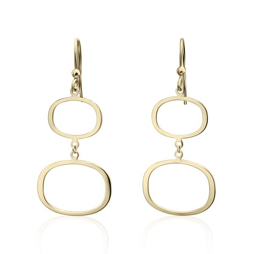Dangle earrings K14 gold, sk3055