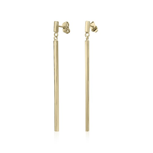 Dangle earrings K14 gold, sk3098