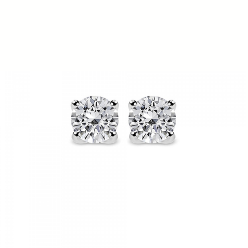 Solitaire earrings 18K white gold with diamonds 0.33ct, VVS1, E from IGL sk3422