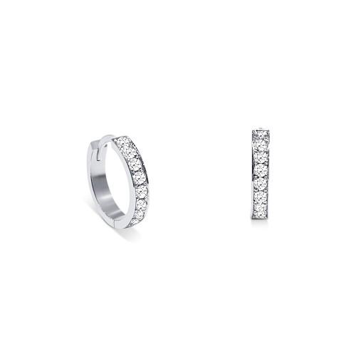 Hoop earrings 18K white gold with diamonds 0.53ct, VVS1, E, sk2798 EARRINGS Κοσμηματα - chrilia.gr