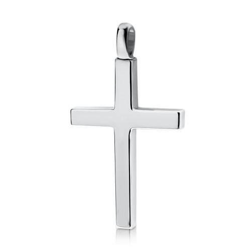Baptism cross K14 white gold st3628